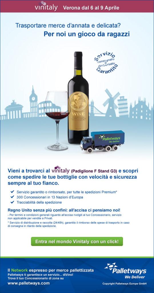 trasporto del vino con Palletways