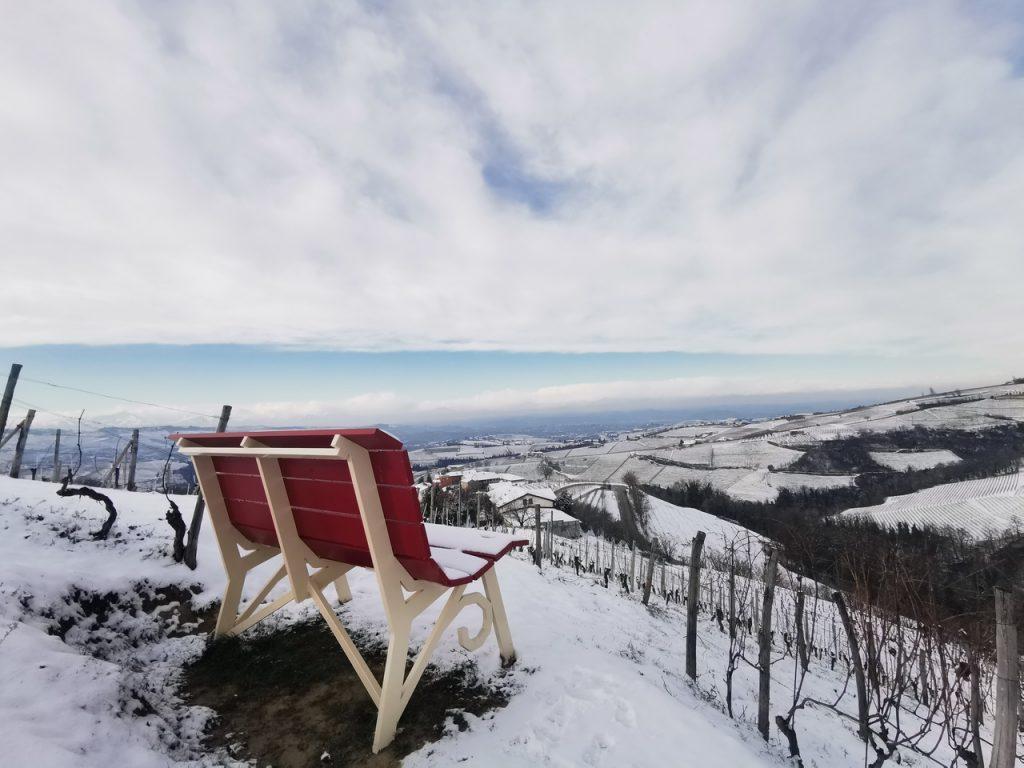Panchina Gigante neve